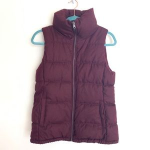 Old Navy purple puffer vest size small